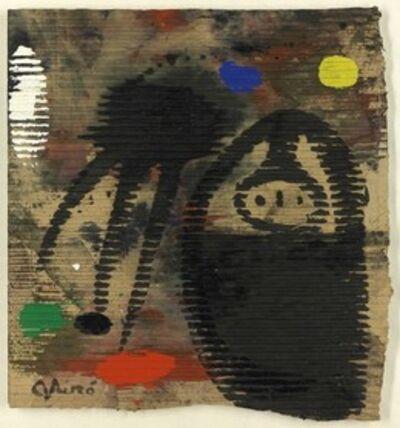 Joan Miró, 'Femme et oiseau sous la lune', 1977