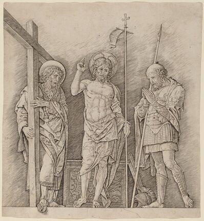 Andrea Mantegna, 'Risen Christ between Saints Andrew and Longinus', ca. 1472