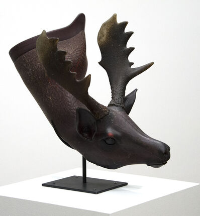 William Morris (b.1957), 'Fallow Deer Situla', 2000