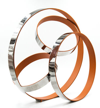 Philippe Pallafray, 'Four Ring Temps Zero Orange', 2019