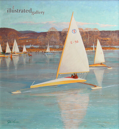 John Clymer, 'Ice Boating, Saturday Evening Post Cover, November 28, 1959', 1959
