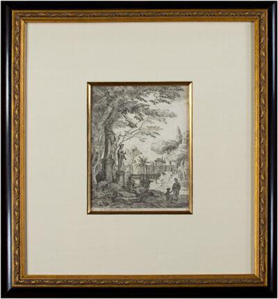 Jan Frans van Bloemen, called Orizzonte, 'Mother & Child Near Statues', 1670-1746