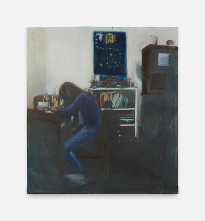 Christian D. Stefanovici, 'P. am Tisch mit Waldiadventskalender ', 2018