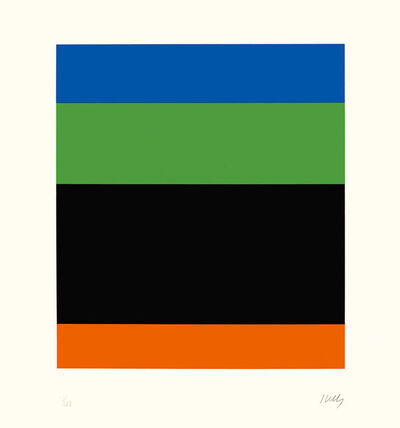 Ellsworth Kelly, 'Blue Green Black Red', 1971