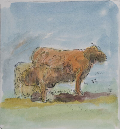 Robert Andrew Parker, 'Cow and Calf', ca. 2010