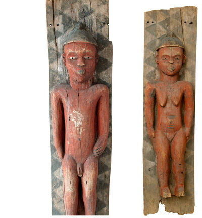 Unknown African, 'Pair of Male and Female Wood Ancestor Panels', n/a