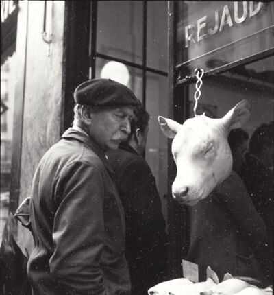 Robert Doisneau, 'The Innocent (Man Looking at a Cow's Head in Butcher's Window)', 1949 / 1970s