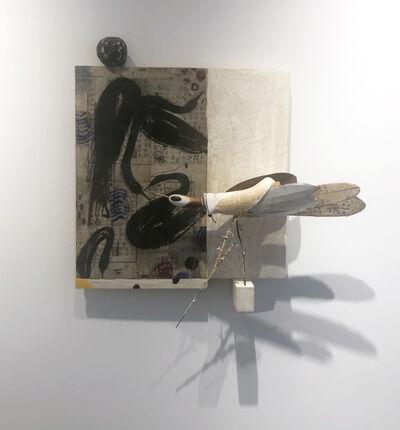 Robert Brady, 'Panel with Bird', 2021