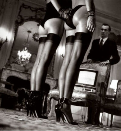 Helmut Newton, 'Legs in Stockings at Attention', 1979