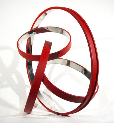 Philippe Pallafray, 'Four Ring Temps Zero Red 6/10', 2019