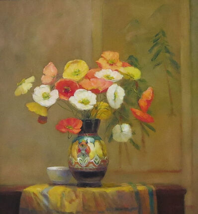 Jacqueline Fowler, 'Poppies in Gouda Vase'