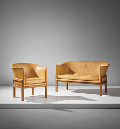 Mogens Koch, 'Two-seater sofa, model no. MK52, and armchair, model no. MK51', designed 1936-executed after 1951