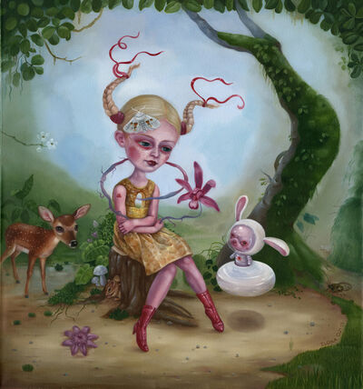 Ilona Cutts, 'Earthling and Moon Bunny', 2019