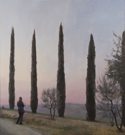 Kenny Harris, 'Judy Drawing Her Cypresses (Nature as Teacher)', 2015