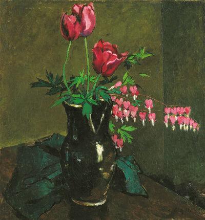 Anton Lutz, 'Tulips and Bleeding Heart', 1933