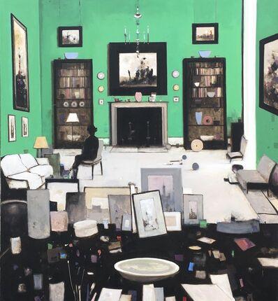 Geoffrey Johnson, 'Interior in Green', 2019