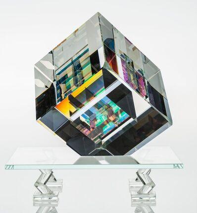Toland Sand, 'Split Cube on Stand'