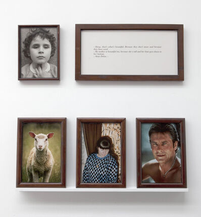 """Sophie Calle, '""""The Blind. Sheep, Delon, my mother""""', 1986"""