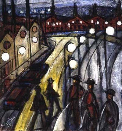 Hugó Scheiber, 'Nocturnal Cityscape', ca. 1930