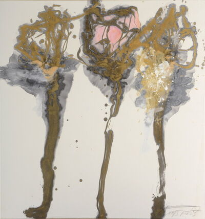 Wei Ligang 魏立刚, 'Plums with golden branches', 2013