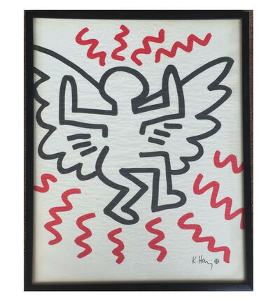 "Keith Haring, '""Angel"", Bayer Suite, Sali-Adalat, Edition of 70, Offset Lithograph on Glassine Paper, Museum Quality.', 1982"