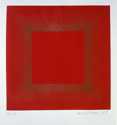 Richard Anuszkiewicz, 'Summer Suite (Red with Gold IV)', 1979