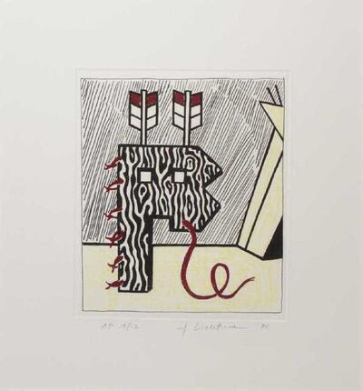 Roy Lichtenstein, 'Figure with Teepee', 1980