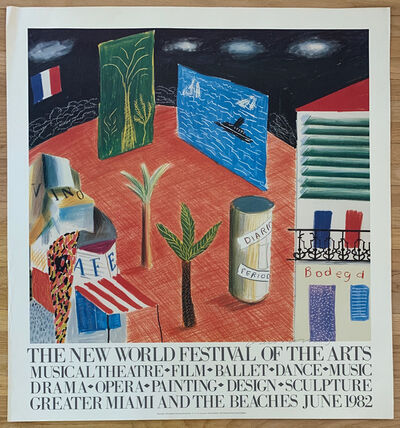 David Hockney, 'SIGNED Poster: The New World Festival of the Arts', 1980
