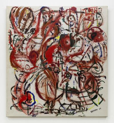 Herbert Gentry, '(White Buffalo) Abstract Umber/White Ground', 1963