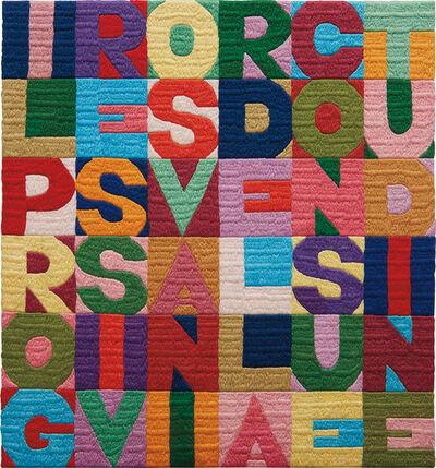 Alighiero Boetti, 'll progressivo svanire della consuetudine', 1990
