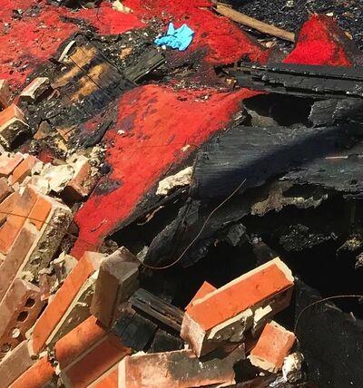 Anne McLeod, 'Hate crime fire remains/Mount Pleasant Baptist Church - Opelousas, Louisiana', 2019