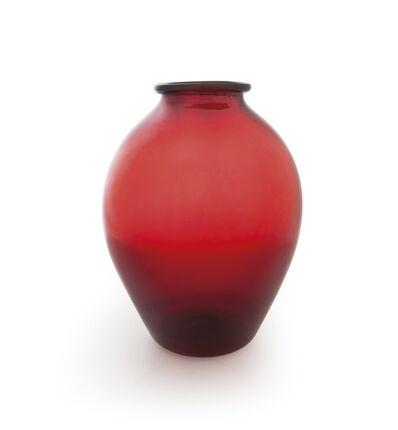 Napoleone Martinuzzi, 'A vase model '3080' in red blown glass', circa 1926