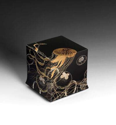 "Yoshio Okada, '""Swimming"" Box with Sprinkled Design of Jellyfish (T-4393)', 2018"