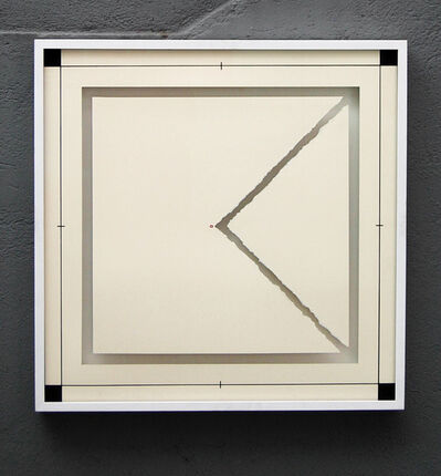 Anna Maria Maiolino, 'Triangulo no Quadrado (Triangulo in the Square), from the Desenhos Objetos (Drawing Objects) series', 1974/2011