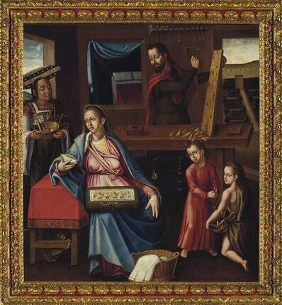 Follower of Bernardo Bitti, 'La sagrada familia en el taller de Nazareth', early 17th century