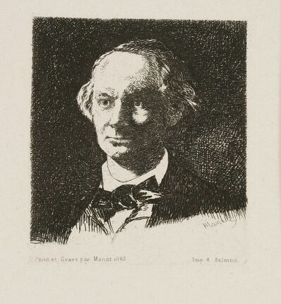 Édouard Manet, 'Charles Baudelaire Full Face III', 1868