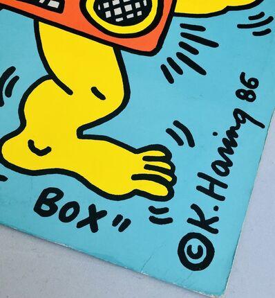 Keith Haring, 'Rare Original Keith Haring Vinyl Record Art (Keith Haring boombox)', 1986