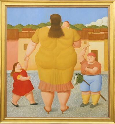 Fernando Botero, 'Woman with Children', 2018