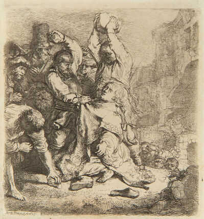 Rembrandt van Rijn, 'The Stoning of Saint Stephen', 1635