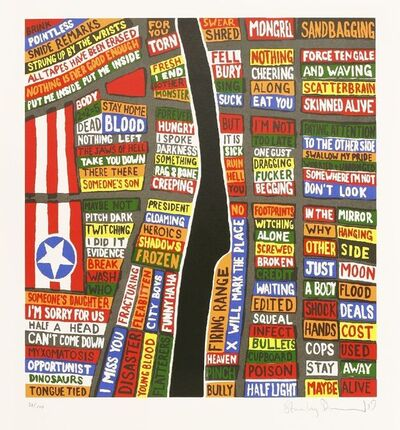 Stanley Donwood, 'Baghdad; Manhatten', 2009