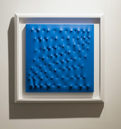 Enrico Castellani, 'Superficie Blu', 1993