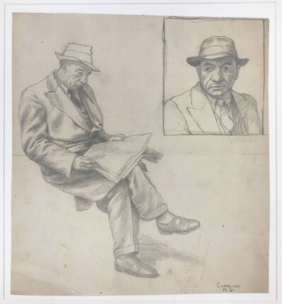 Douglas Warner Gorsline, 'Man Reading', circa 1940