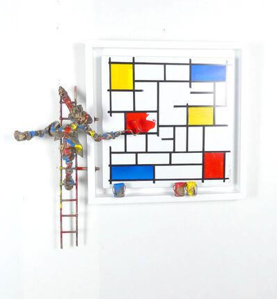 Bernard Saint Maxent, 'Le rouge de Mondrian', 2021