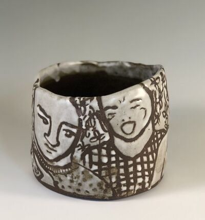 Elizabeth Currer, 'Figure Pot on Black Mountain clay body', 2018