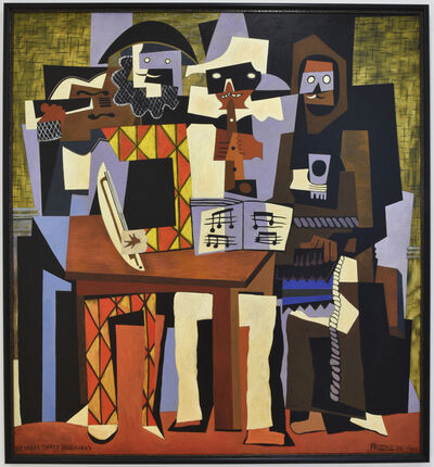 Dick Frizzell, 'Picasso's Three Musicians', 2020