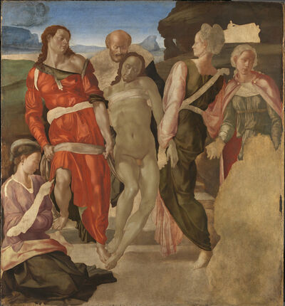 Michelangelo Buonarroti, 'The Entombment (or Christ being carried to his Tomb)', 1500-1501
