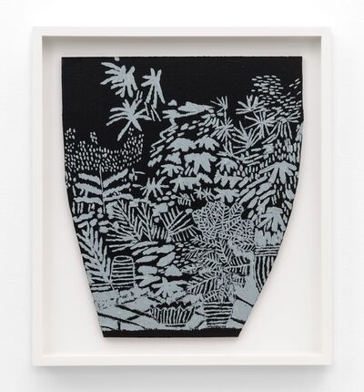 Jonas Wood, 'B+W Landscape Pot 3', 2014