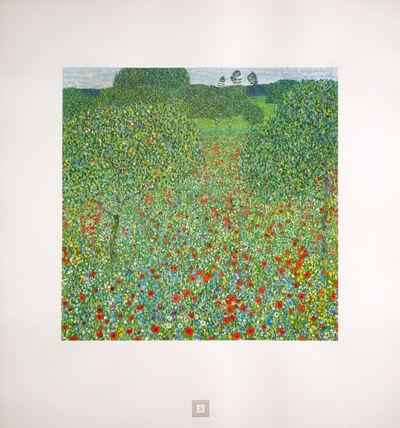 Gustav Klimt, 'Poppy Field [Gustav Klimt An Aftermath]', 1931