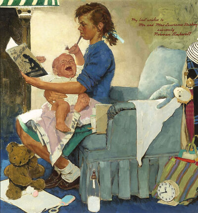 Norman Rockwell, 'The Babysitter', ca. 1947