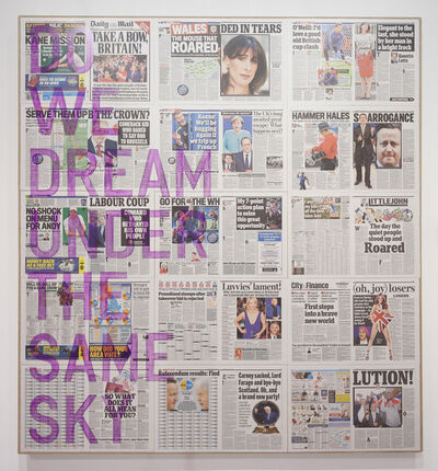 Rirkrit Tiravanija, 'untitled 2016 (do we dream under the same sky, daily mail, june 25, 2016)', 2016